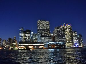NYC Skyline from aboard our dinner cruise at the Scrambler launch…