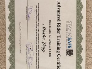 Stayin' Safe Completion Certificate