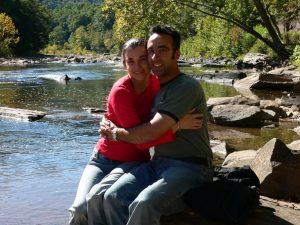 Terri and I enjoy the moment