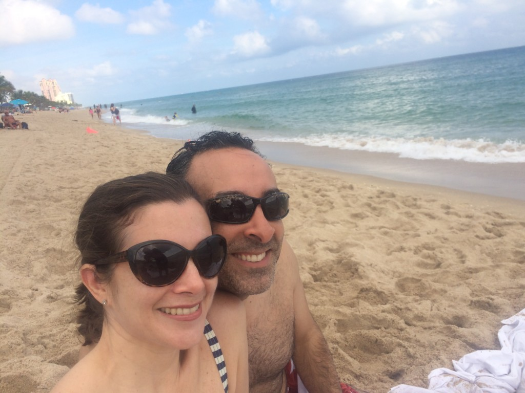 Next stop – the beach! While New Jersey froze, Florida's beaches were still sublime. 80 degrees in January!
