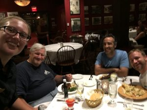 Dinner with the infamous Jack Riepe at the 2018 BMW RA Rally in Waynesville, NC.