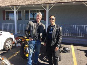 Michael Simpson & I en route…..