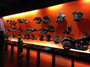 The Engine Wall – absolutely incredible chronological display of various H-D powerplants over the past 100+ years.