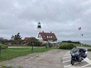 Arriving at the Atlantic Ocean's shore in Maine