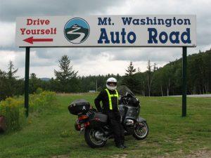 Entrance to Mount Washington Auto Road….