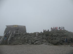 The Tip-Top House on the summit of Mt. Washington, some 6,288 feet high!