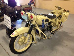 A perfectly restored moto-ambulance!