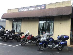 Caught my progressive friend Chris at a meeting of secret Republicans