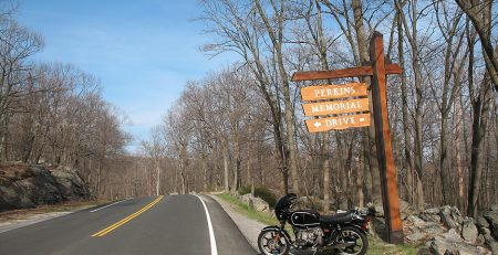 Ahhhh, Perkins Memorial Drive at Harriman State Park in NY on April 18. One of my favorite places on the east coast!