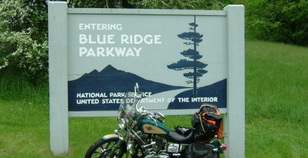 On the way to the Dewald's in Charlotte, via the famed Blue Ridge Parkway!