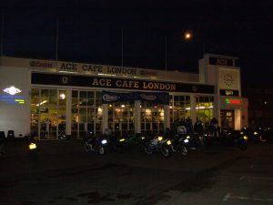 The Ace Cafe on a weeknight