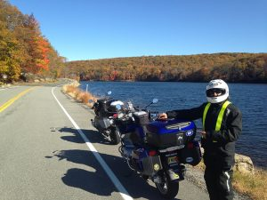 Riding Seven Lakes Drive in Harriman State Park