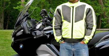 Modeling BMW's new Airshell jacket for MCN….