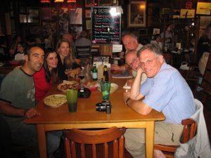 The gang enjoying our first night's dinner in Davis, WV