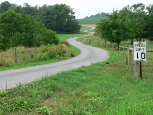 """An example of Jim Ford's """"Invisible Roads"""" – no traffic, and plenty of curves!"""