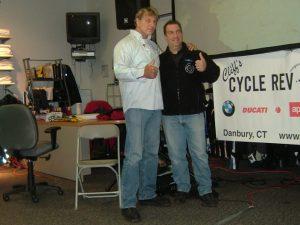 Glen Heggstad and Cliff's BMW owner Cliff LaMotta.