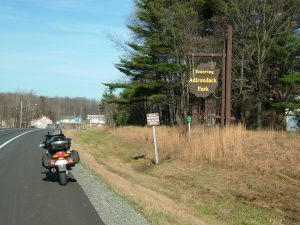 Entering the Adirondacks. This is the largest state park in the entire USA – about the size of Vermont!