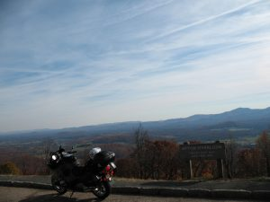 RT poses by the Afton Overlook on the BRP.
