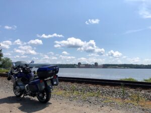 BMW R1200RT Overlooking Indian Point Nuke Plant